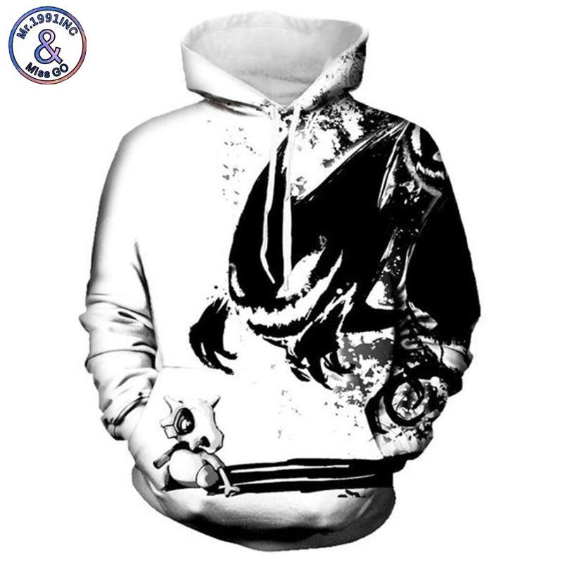 Mr.1991INC 2018 new Devil pattern printing 3d Sweatshirts Men/womens hoodie sweatshirt Casual Hooded Pullovers men Hoodies M163