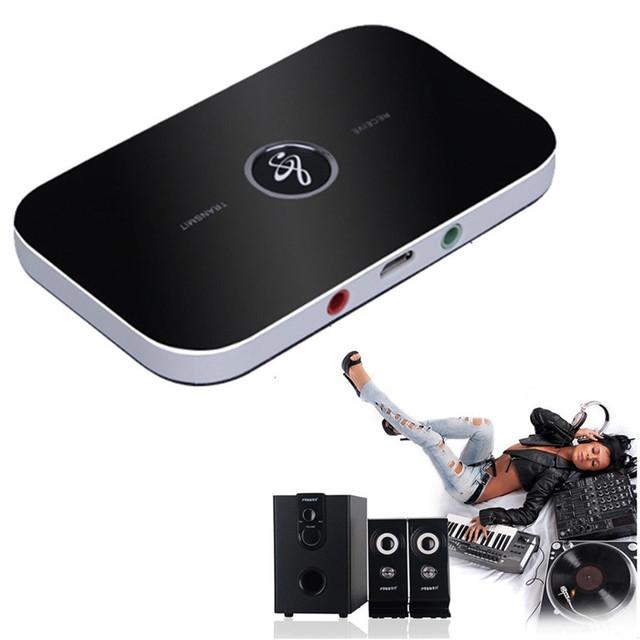 2-en-1 Wireless Bluetooth A2DP Audio Música Receptor Transmisor Adaptador AUX OUT