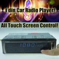 Новый 12 В автомобильный радиоприемник mp3-плеер поддержка USB / SD / MMC карт сенсорный экран управления стерео FM радио аудио мобильного телефона ...
