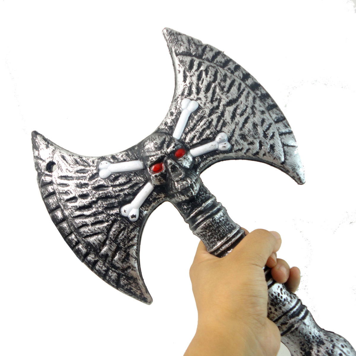 Halloween Masquerade Party Supplies Weapons Equipment Ghost Pattern Axe Props Fancy Toy For Kids Boys Gift life size scary severed head party decoration haunted house halloween props
