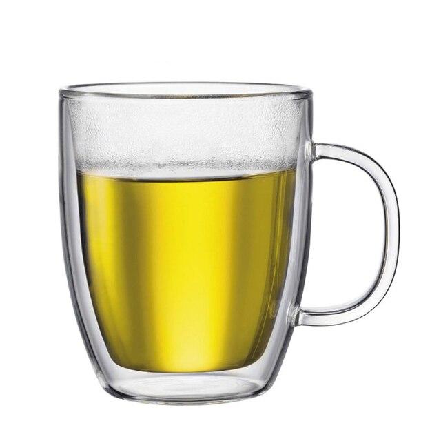 Large Capacity Bodum Design Swig Mug Double Wall Glass Free BPA Assam Tea Glassware Italy Espresso Thermal Insulation Coffee Cup