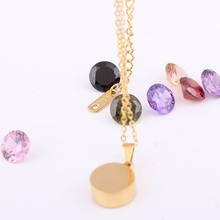 Fashion Women's Necklace with Interchangeable Crystal Pendant