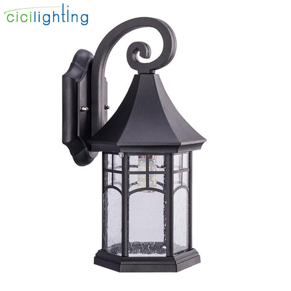 Black Outdoor Patio Porch Wall Mount