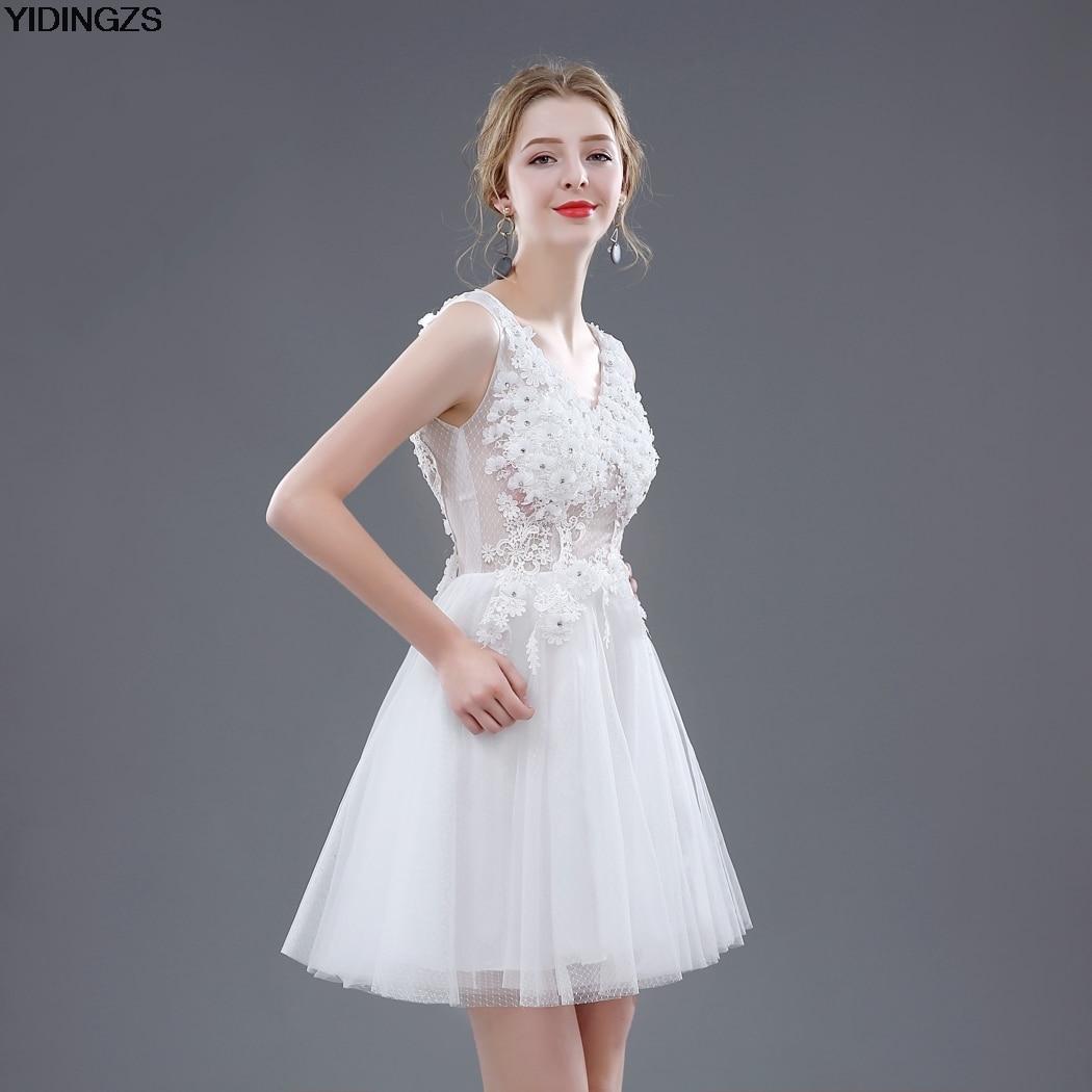 Aliexpress.com : Buy Short Wedding Dresses 2017 White