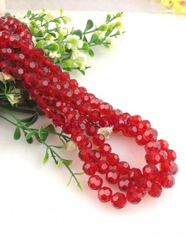 Wholesale 500pcs/lot 12mm Red Round Faceted Ball Beads Crystal Glass Beads Favor Craft Bracelet Diy Beads For Jewelry Making