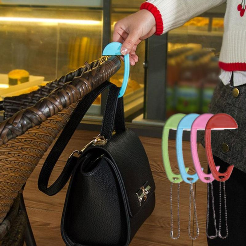 1pcs Portable Handbag Hook Clothes Purse Bag Hanger Hook Bag Buckle Table Desk Brim Bag Hook Desk Hanger Holder