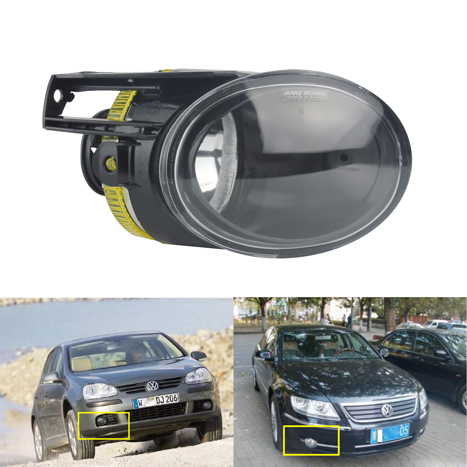 ANGRONG For VW Passat 3C B6 2006-2010 Front Fog Light Lamp DRL Right Driver Side No Bulb стоимость