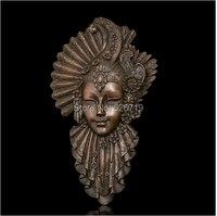 ATLIE ручной бронзовые абстрактные стены скульптура маска павлина статуя росписи латунь статуэтки Винтаж рельеф работа украшения