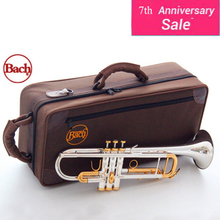 Professional LT180S-72 Bach US Silver Gold Plated Trumpet Small Brass Senior High Qulity Musical Instrument Trompeta