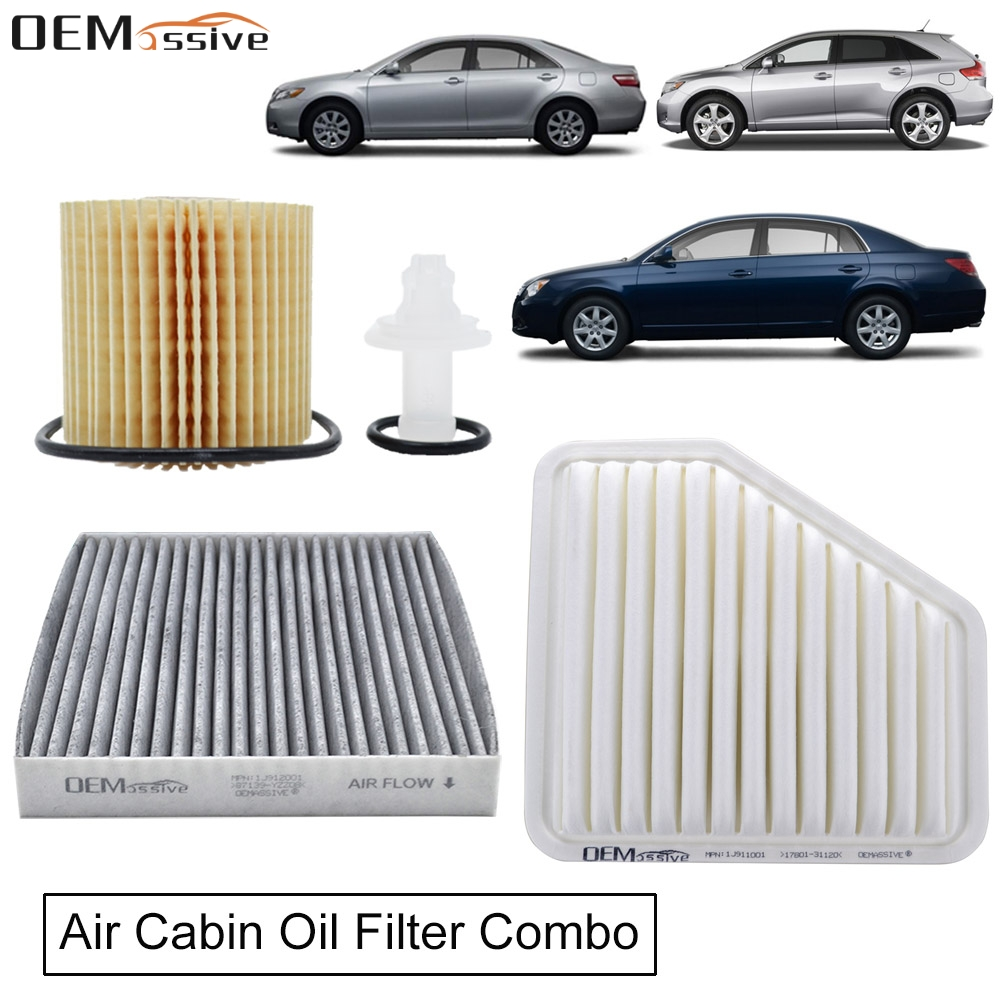 Oil Filter 04152 YZZA1, Air Filter 17801 31120, Cabin Filter 87139 YZZ08 Combo For Toyota RAV4 Avalon Camry Venza 3.5L V6 Engine|Oil Filters|   - AliExpress
