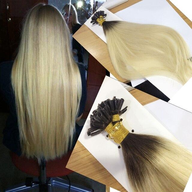 U Tip Pre Bonded Fusion Hair Extensions Straight Brazilian Virgin