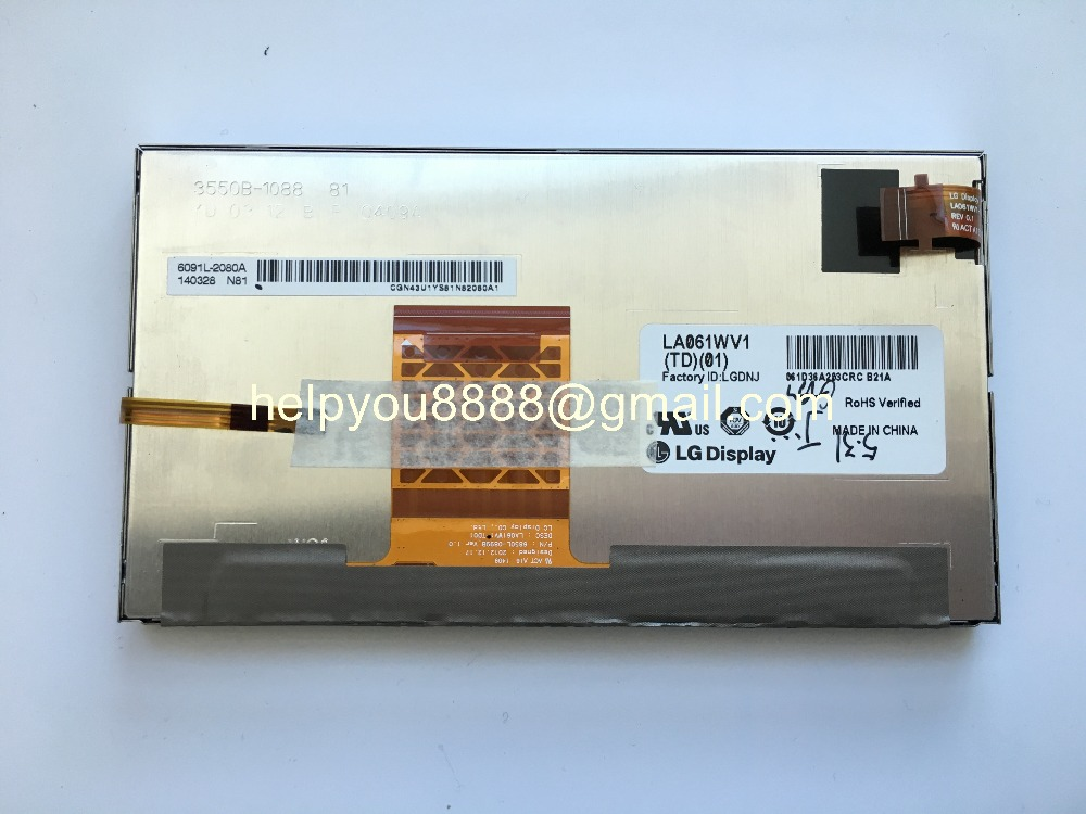 New and Original Touch display Screen LA061WV1 TD 01 LA061WV1 TD01 for RAV4 Camry car DVD