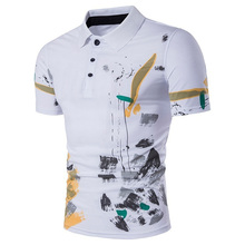 Zogaa Brand New Mens Polo Shirt Short Sleeve Casual Graffiti Print Cotton Shirts High Quality Male Tops Tees 2018