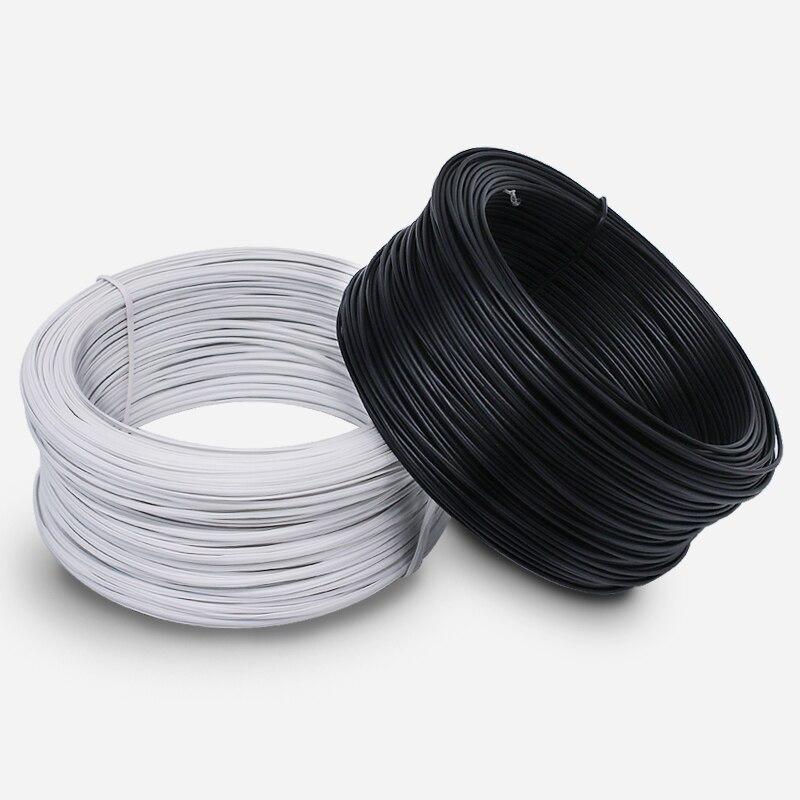 70 Mt/los 0,75 MM Dia. runde Schwarz und Weiß PVC Beschichtete ...