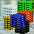 3 MM 216 pcs Metaballs Bolas Magnéticas Ímã Neo Cubo Mágico Brinquedos Presente de Ano Novo Presente de Natal Xmas Cubo Magico Caixa de Metal + Cartão + Saco