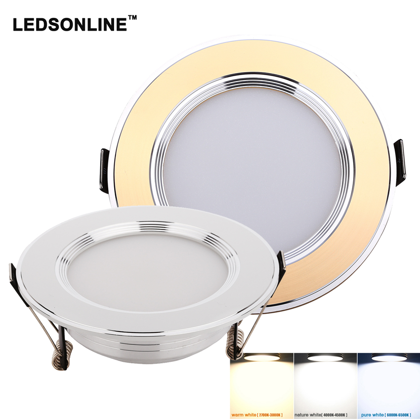 1 Stücke Led Downlights 3 W 270lm 5 W 450lm Smd5630 Silber Gold Led-deckeneinbauleuchte Lampen Led Decke Lampe Hause Innen Beleuchtung