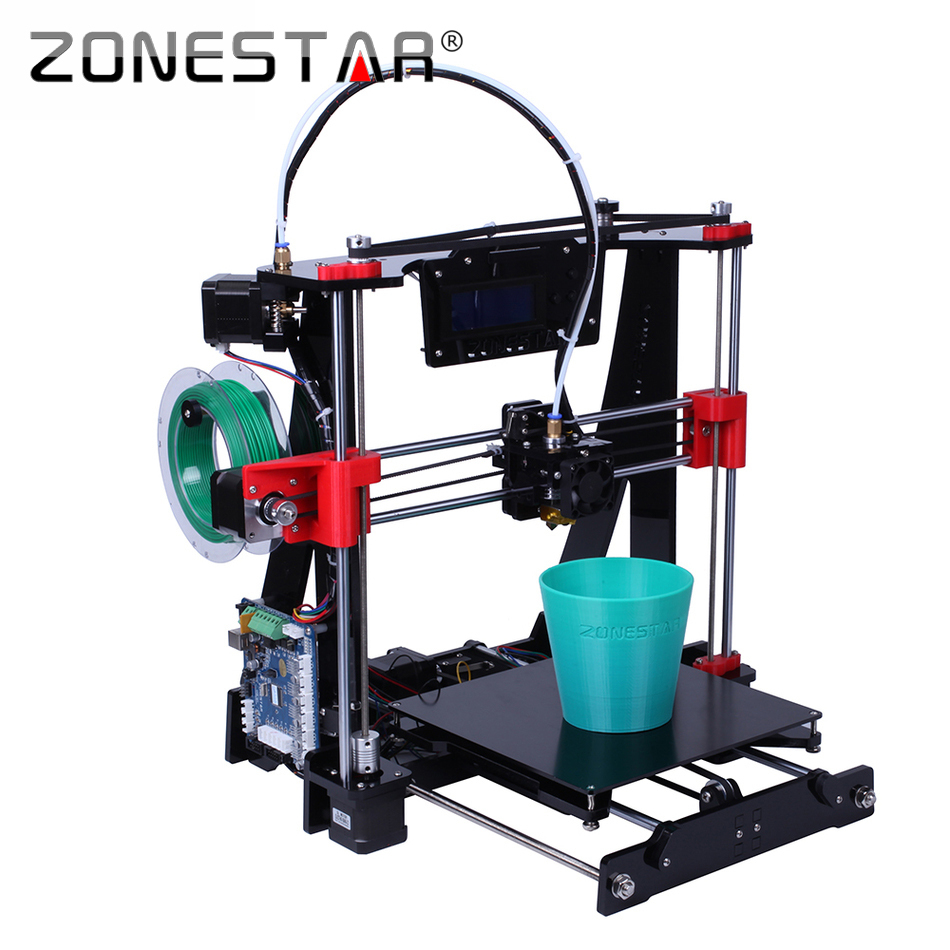 Free Shipping High Precision Easy Level Acrylic Reprap Prusa i3 3D printer DIY kit Bowden Extruder LCD Gift SDcard Filament Tool