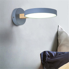 Simple Modern LED Wall Lamp Dimming Color Iron Acrylic Wood Wall Light Fixtures Bedside Wall Sconce Lighting simple style wood wall sconce modern led wall lamp creative bedroom bedside wall light fixtures home lighting lampara pared