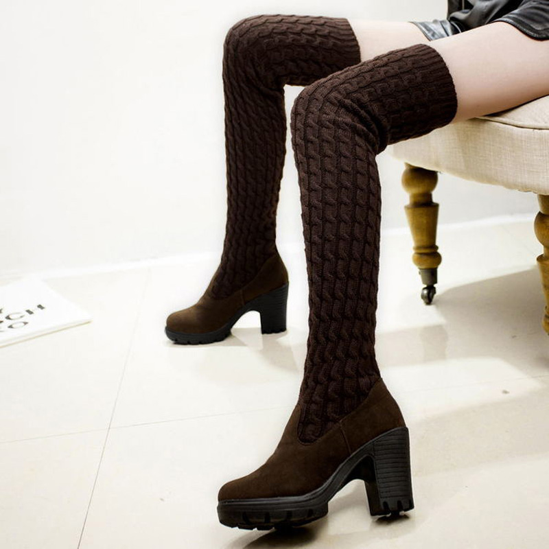 JYRhenium 2018 New Arrival Big Size Women Boots Calcados Feminino Over The Knee Boots High Quality Fashion Hot Designer Shoes knee high boots snakeskin women shoes newest fashion cheap price best quality hot selling new designer luxury special noble