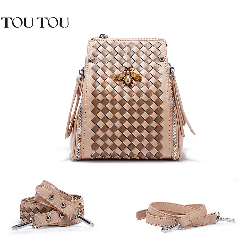 TOUTOU Handbag in 2018 the new weaving wide straps contracted and fashionable joker single shoulder bag, free shipping цена