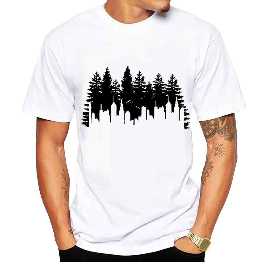 Men's T-shirts Summer O-Neck Short Sleeve Casual t shirt men tshirt Fashion Urban forest Funny Print T-Shirt homme size 5xl