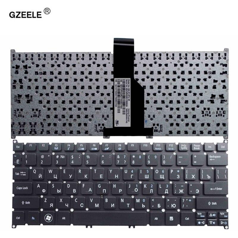 GZEELE Russian Laptop Keyboard For Acer Aspire V5 V5-123 V5-131  S3-331 Aspire One AO725 AO756 RU NOTEBOOK BLACK Without Frame