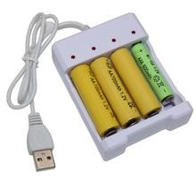Batterie Rechargeable universelle adaptateur de Charge rapide USB 4 fentes sortie chargeur de batterie outil de Charge de batterie pour pile AA/AAA