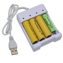 Universale Batteria Ricaricabile Carica Rapida Adattatore USB 4 Slot di Uscita Della Batteria del Caricatore Della Batteria Strumento di Ricarica Per AA/AAA Battery