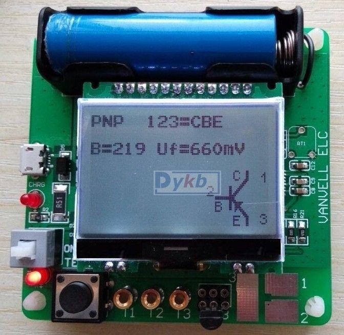 LCR ESR Meter Mega328 Digital Combo Transistor Tester Diode Triode inductor Capacitance resistor MOS/PNP/NPN + Test clip  цены