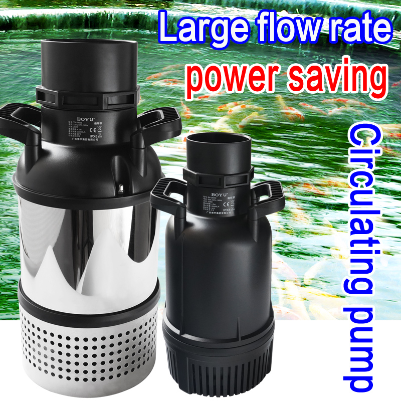 BOYU High power Fishpond Pump Stainless Steel Submersible Filter Pump For KOI Fish Pond High Lift Large Flow TH 40000/45000