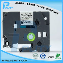 10 packs TZe SE4 18mm Black on White TZ SE4 compatible label tapes for ptouch label