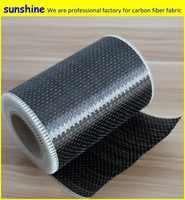 Tissu unidirectionnel de tissu de Fiber de carbone de 12 k 200g UD pour la construction et la réparation de bâtiment et de pont