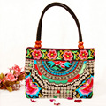New National Chinese Style Women Handmade Flower Embroidered Canvas Vintage Embroidery Ethnic Shoulder Bags Totel HandBag