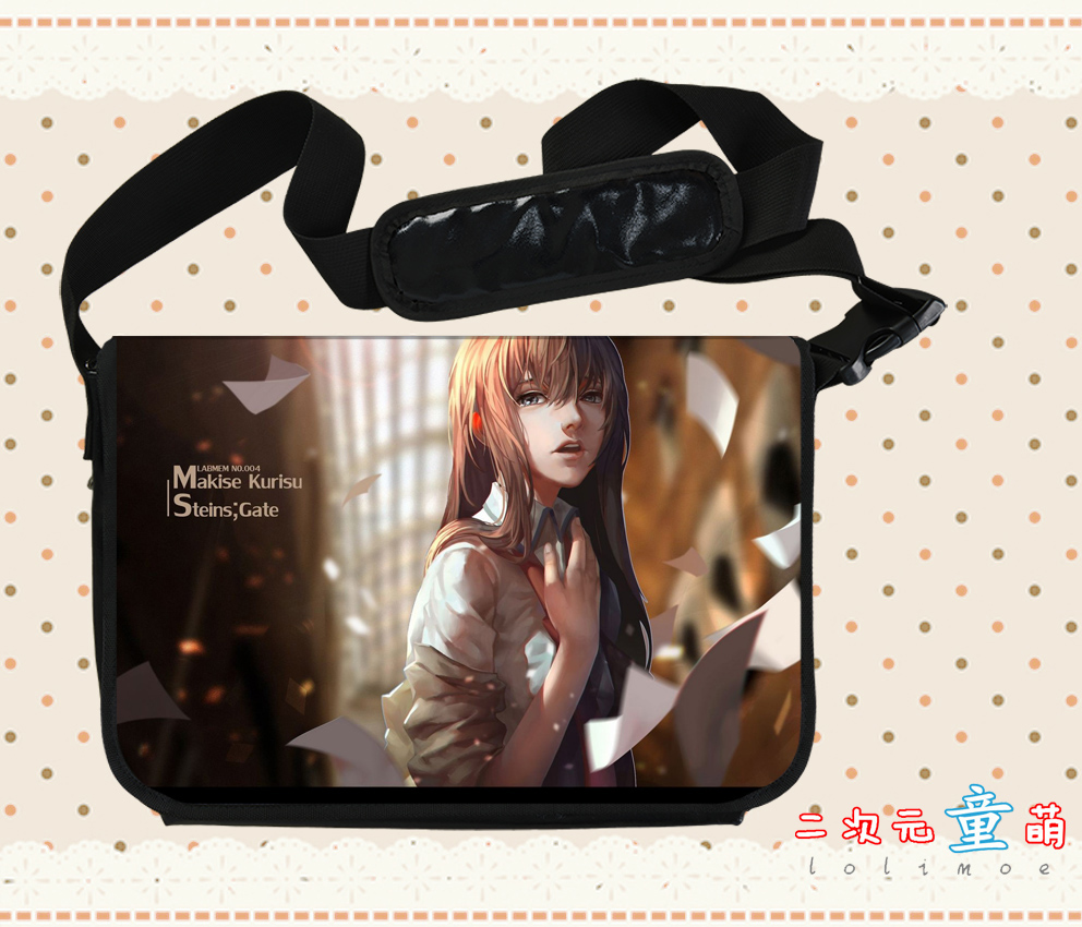 Anime Steins Gate Cosplay Makise Kurisu Cos Anime Shoulder Bag Messenger Bag Male Female Student Campus Gift anime fairy tail cosplay anime shoulder bag male female student travel leisure large capacity backpacker birthday gift