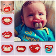 Baby pacifiers fashion hot selling children's novel silicone pacifiers Funny Funny teeth pacifier children kids Halloween gifts