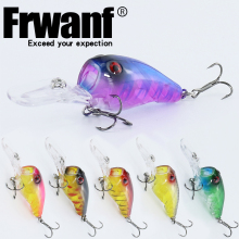 Купить с кэшбэком Frwanf 6 Pcs/lot Crankbaits 9.5cm 11.5g Treble Hooks Pleastic Artificial Hard Bait Fishing Lure Wobblers