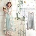 Harajuku mulheres verão explosão sweet rendas de algodão sem mangas bonito lolita kawaii feminino princesa dress mori menina c104