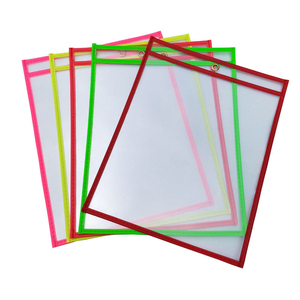 Kids Can Be Reused With PVC Transparent Dry Brush Bag PET Writing Dry Wipe Bag Colored Pen Drawing Educational Toys for Children