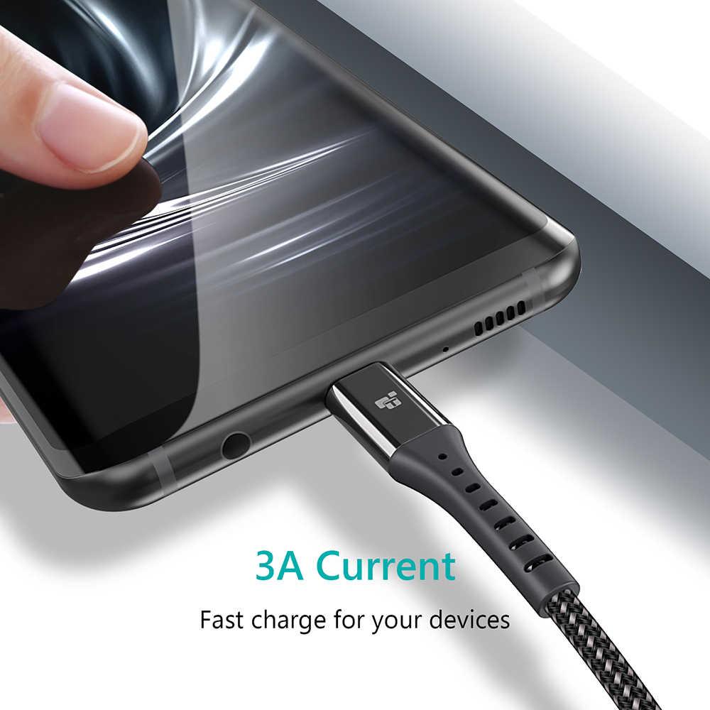 TIEGEM kabel USB typu C USB-C 3A szybkie ładowanie kabel typu C kabel do synchronizacji danych dla Samsung S8 S9 s10 Xiaomi mi9 uwaga 7 8 9 przewód