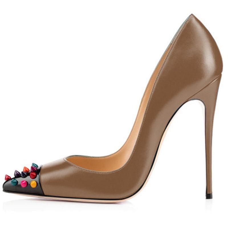 Chaussures Femmes Celebrity 5 2 Rivets Pointes Goujons color 4 3 Talons Dames color De Pointu Sexy 1 Sucrerie Bout color Color Multi Hauts Couleurs Partie color Stilettos Pompes apdnZH