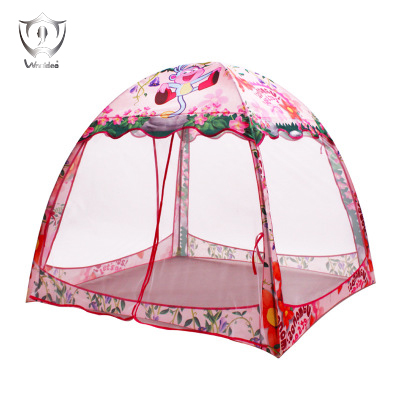 Childrens Tent Indoor and Outdoor Kids Play House Pink Princess Toy Tent SingleFour Doors ZS73