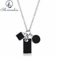 Slovecabin real 925 plata esterlina encantos gargantilla collares para las mujeres vintage negro CZ cadena collar mujeres joyería Accesorios