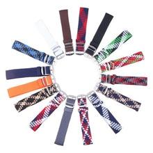 20mm 22mm Nylon Perlon Tissé bracelets bracelet Cambo Armée Militaire tissu Tissé Bracelet de Montre De Bande Boucle ceinture Noir/blanc/Rouge