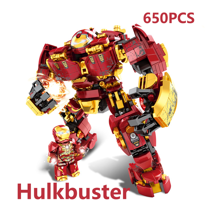 Image 2 - Marvel строительные блоки Железный человек халкбастер военная машина Супер Герои Мстители бесконечные войны детские игрушки подарки 2 типаБлочные конструкторы   -
