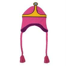Avventura go Principessa Bubblegum Accessori Cosplay Del Fumetto di Lavoro  A Maglia Cappello Berretto di Lana Principessa Bonnib. 73efa9a66305