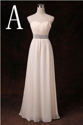 Новое поступление Формальные подружек невесты женские летние скромные платья подружек невесты Одежда с рукавами для свадебной вечеринки длинные H2743 - Цвет: A
