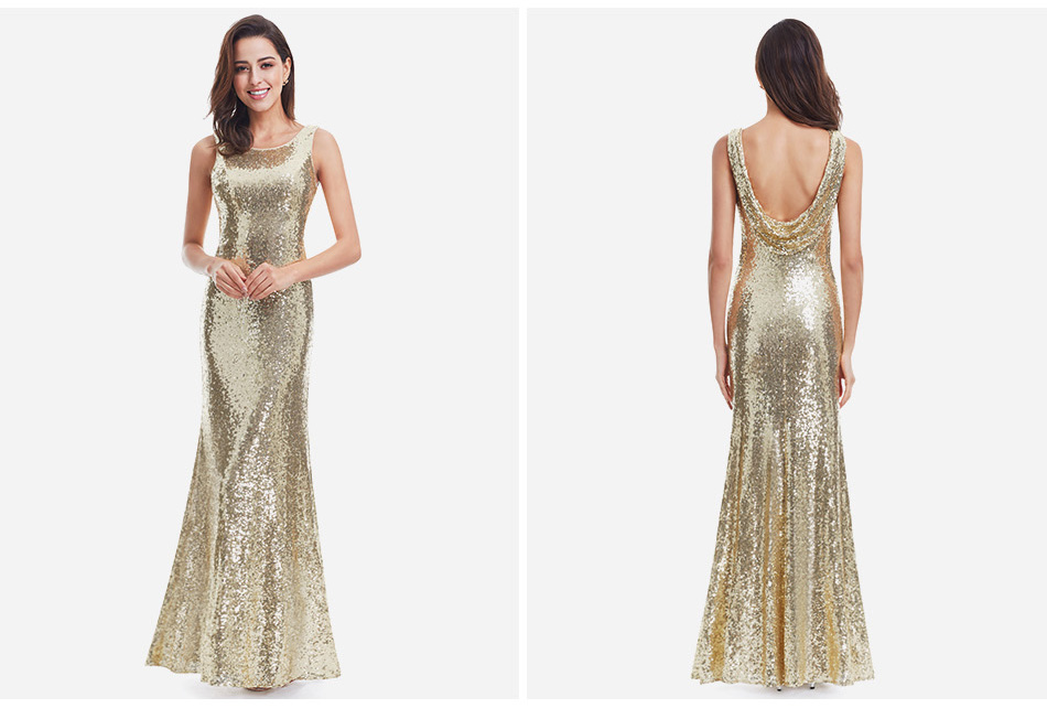 Gold Long Evening Dress Ever Pretty Back Cowl Neck EP07110GD Shine Sequin Sparkle Elegant Women 2017 Evening Party Gown 6