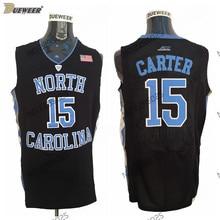 c97d67ba6bf DUEWEER Mens North Carolina Tar Heels Vince Carter College Basketball Jersey  Retro Black 15 Vince Carter Stitched Jerseys S-XXL