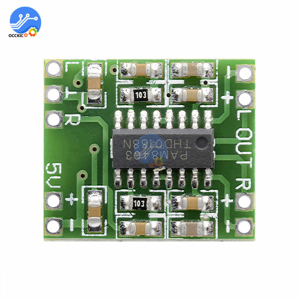 PAM8403 carte amplificateur numérique 2*3W classe D 2.5V à 5V puissance haut-parleur carte amplificateur de son Modulo Amplificador