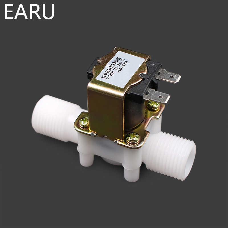 """1/2 """"プラスチックソレノイドバルブ 12 V 24 V 220 V 磁気洗濯機ディスペンサー飲料水空気圧コントローラスイッチ"""